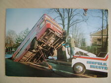 Postcard - EASTERN COUNTIES BUS IN SINK HOLE. Unused.