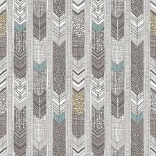 G56381 - Global Fusion Multicoloured Darts & Stripes Galerie Wallpaper