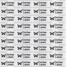 80pcs Small Clear Personalised Pencil Name Labels, Name Stickers 22x9mm