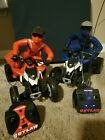 Lot of 2 four wheelers and riders; Polaris MXR 450 Outlaw W/ Rider & Remote