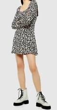 TOPSHOP Floral Print Blouson Prairie Mini Dress - Size UK10 , BNWT