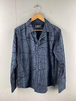 Quarterback Original Men's Long Sleeve Button Up Shirt Size M Black