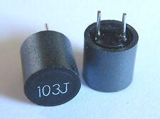10x AISR-01-103J 10mH ±5% shielded radial RF choke R(DC)=12.1Ohm, I(DC)max. 25mA