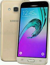 SAMSUNG Galaxy J3 6 2016 ORO 4G-Sbloccato-senza Sim-Dual SIM (Nuovo Di Zecca)