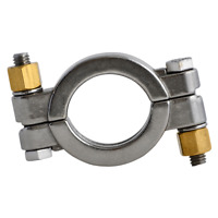 "Top Line High Pressure Bolted Sanitary Clamp 304 Stainless 6"" Inch 13MHP 1 pc"