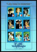 Princess Lady Diana In Memoriam Stamps - World Ambassador - Somali Republic