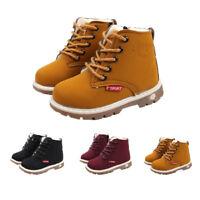 Children Winter Warm Boys Girls Martin Sneaker Boots Kids Baby Casual Shoes