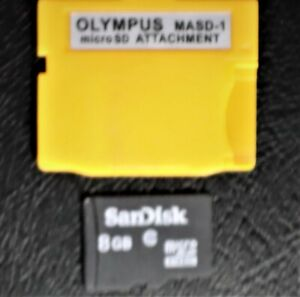 XD Picture Card Adapter+8GB SanDisk MicroSDHC Memory Card