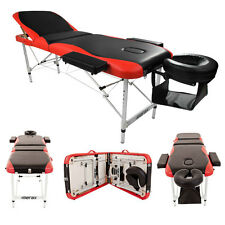"""Aluminum 3 Fold 84""""L Portable Massage Table Facial SPA Bed W/Free Carry Case"""