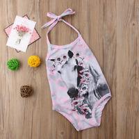 Girls Swimming Costume Unicorn Kids Bikini Beach Swimwear Swimsuit Bathing set