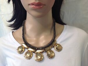 NEW Chico's Gold Sparkling  Necklace