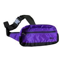 REI Vintage Fanny Pack Sling Bag Purple Zip Close Adjustable Strap Waist Pockets