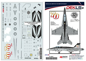 1/48 Decal 75 SQN RAAF 70th Anniversary F/A-18 Hornet 1/48 Scale DEKL's II