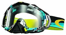 Oakley Men's Mayhem Pro Legacy MX Goggles - Blue Frame/Clear Lens (OO7051-04)