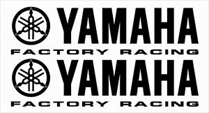 2 x YAMAHA Factory Racing Decals Stickers Racing R1 R6 YZF ANY COLOUR