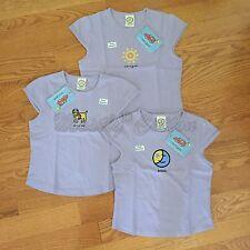 NWT girls M L Life is Good sleeveless t-shirt cap sleeves t-shirts purple