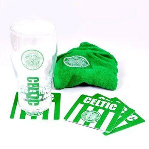 CELTIC MINI BAR SET PINT (GLASS, BAR TOWEL, 4 COASTERS) OFFICIALLY LICENSED