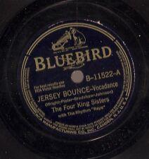 Four King Sisters on 78 rpm Bluebird B-11522: Jersey Bounce/Heavenly Hideaway