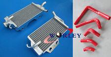 Aluminum Radiator & hose for HONDA CR250 CR250R 05 06 07 2005 2006 2007 RED