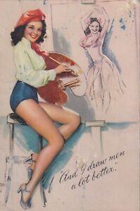 K. O. MUNSON - 1940s art illust  PIN-UP/CHEESECAKE  model INK  blotter