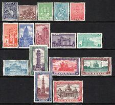 India 1949-52 Set SG309-24 MNH (High Cat)