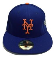 59fifty New Yorks Mets Hat, Men's Cap, Blue, Flatbrim, Size 7