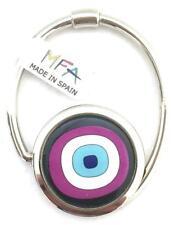 Designer Handbag Hook - S-Tail - Bag Hanger - Circles Purple - New
