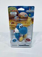 Blue Yarn Yoshi Amiibo Yoshi's Woolly World Series Box Damaged Mario
