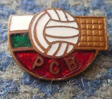 BULGARIA VOLLEYBALL FEDERATION UNION 1960's GREATER GOLD VERS. ENAMEL PIN