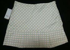 NWT Lady Hagen black/blue/green/white plaid print side-zip golf skort Sz 10