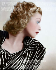 LUCILLE BALL IN PIN STRIPE DRESS PORTRAIT BEAUTIFUL COLOR PHOTO BY CHIP SPRINGER
