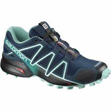Salomon Women's 4 Speedcross 4 Trail Running Shoes Blue/Black 6