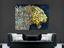 Cheetah Poster Wild Cat Trippy Abstract Wall Art Print psychedelic