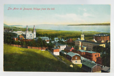 Postcard Ste Anne de Beaupre Village from the Hill Quebec Canada*
