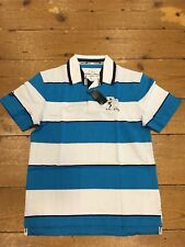 Raging Bull Short Sleeve Double Striped Top/Electric Blue - XXL CLEARANCE
