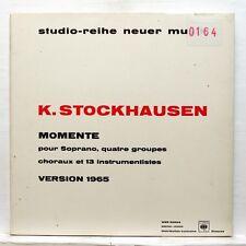 STOCKHAUSEN momente WERGO WER 60024 LP EX