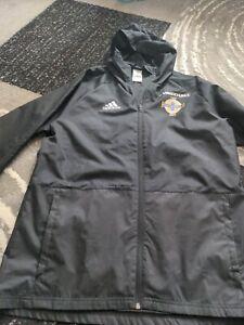 Northern Ireland Football tracksuit jacket Coat Adidas Hooded mens medium