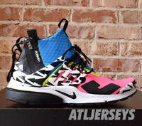 Nike Air Presto Mid Acronym Racer Pink Photo Blue Black AH7832-600 Size 4-14