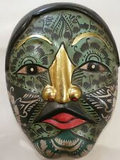 Vintage Studio pottery Pacific Island décoré Masque