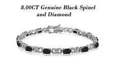 Womens/Girls 7.5 Inch Gemstone Bracelet, Diamond Accent Bracelet - All colors
