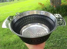New listing Rosle Black Silicone & Stainless Steel Collapsible 9 1/4 Colander