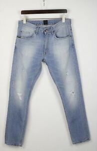 TIGER OF SWEDEN / Jeans PISTOLERO BRUTAL Men W33/L32 Ripped Faded Jeans 24096-JS