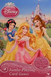 Cards Jumbo DISNEY PRINCESSES Cinderella Little Mermaid Playing Deck NEW S2