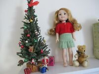 """NO DOLL CHRISTMAS ALL YEAR LONG DARLING SWEATER FOR AG WELLIE WISHERS 14"""" DOLL"""