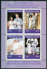 Chad 2019 CTO Prince Archie Royal Baby Harry & Meghan 4v M/S I Royalty Stamps