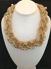 Designer Statement Necklace Gold Braided Design Premier Urban Chic 5D