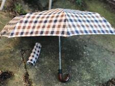 Foldable Automatic Aquascutum Club Check Umbrella
