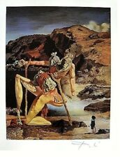 SALVADOR DALI ' HAND SIGNED SIGNATURE * PRINT * 1953 W/ C.O.A.