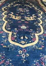 New listing An Awesome Antique Chinese Dragon Palace Size Rug