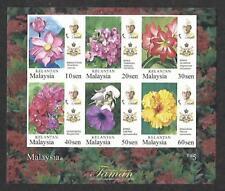 2018 MALAYSIA KELANTAN GARDEN FLOWER DEFINITIVE (M/S) MNH